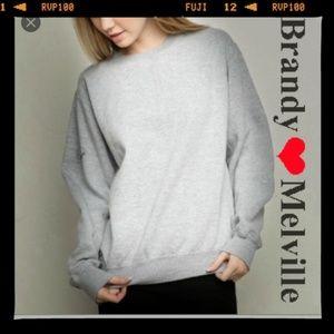 john galt Brandy Melville Erica sweatshirt gray
